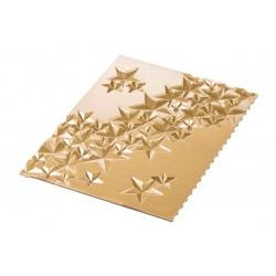 Tapis en silicone- étoiles, tapis effet étoiles 2d, effet étoiles 2d pour gâteau, effet étoiles pour bûches de noël, gâteau de n