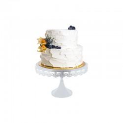 Présentoir à gâteau blanc, présentoir à gâteau dentelle, présentoir à gâteau dentelle blanche, présentoir blanc