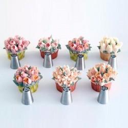 6 douilles russes, kit de douille russes, douille pour faire des fleurs, kit douille fleurs, fleurs à la douille