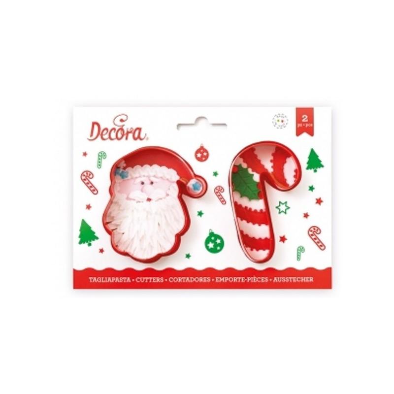 Père-Noël et Sucre d'orge, emporte-pièce de noël, emporte-pièce père-noël, emporte-pièce sucre d'orge, set emporte-pièce de noël