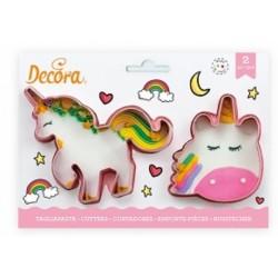 Découpoirs Licornes, emporte-pièces licorne, 2 emporte-pièces licorne, licorne, biscuits forme de licorne