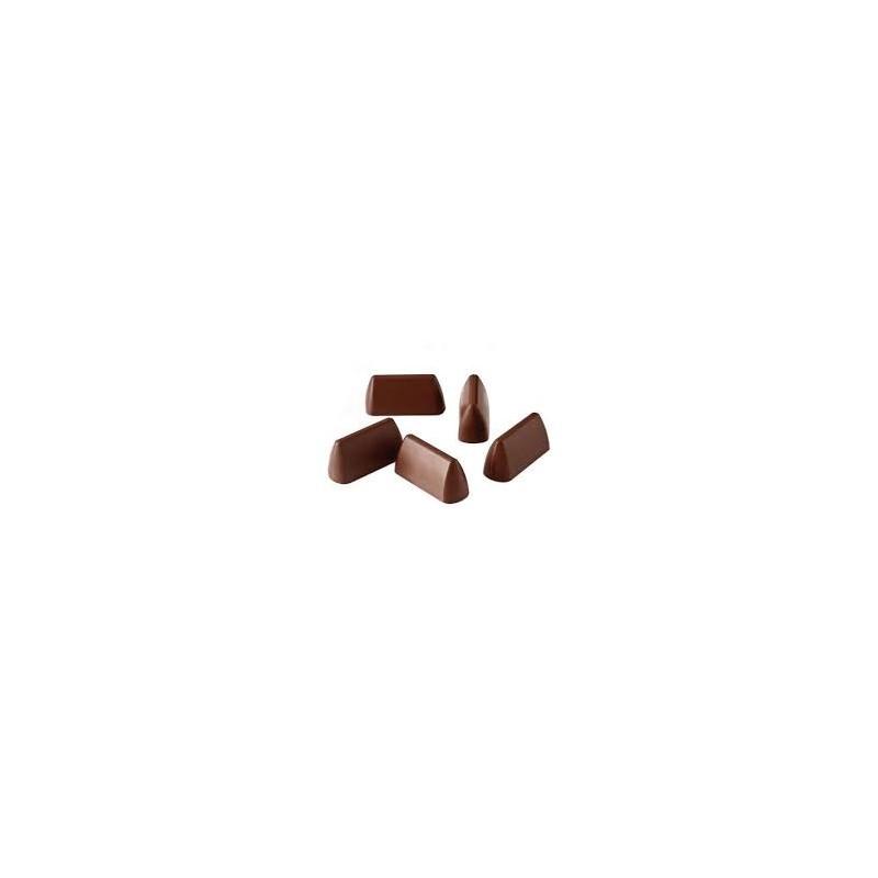 """Moule à chocolats """"Gianduiotto"""", moule à chocolat, moule à chocolat pyramide, moule chocolat maison, moule chocolat petites bran"""