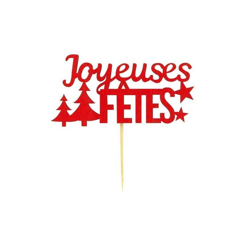 """Décorations """"Joyeuses fêtes"""", topper joyeuxe fête, décoration pour gâteau, décoration pour gâteau joyeuse fêtes"""