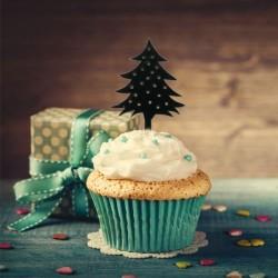 "Cake Topper ""Sapin"", décoration gâteau sapin, décoration pour bûceh sapin, décoration gâteau plastique sapin , décoration gâteau"