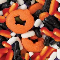 """Déco en sucre Halloween """"Citrouille"""" Mix -70 g"""