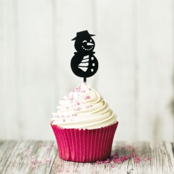 """Cake Topper """"bonhomme de neige"""", décoration gâteau bonhomme de neige, décoration pour bûceh bonhomme de neige, décoration gâteau"""