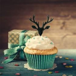 "Cake Topper ""cerf"", décoration gâteau cerf, décoration pour bûceh cerf, décoration gâteau plastique cerf , décoration gâteau noë"