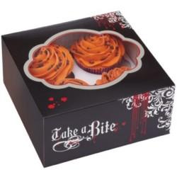 "Boîte à Cupcakes "" Thème Vampire"" PK/3"