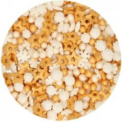 Paillettes blanche et dorée funcakes