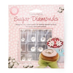 Diamants en sucre comestibles - pk/16