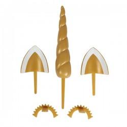 Kit pour gâteau licorne, kit réutilisable licorne, gâteau licorne, oreilles licorne, corne licorne, yeux licorne, décoration gât
