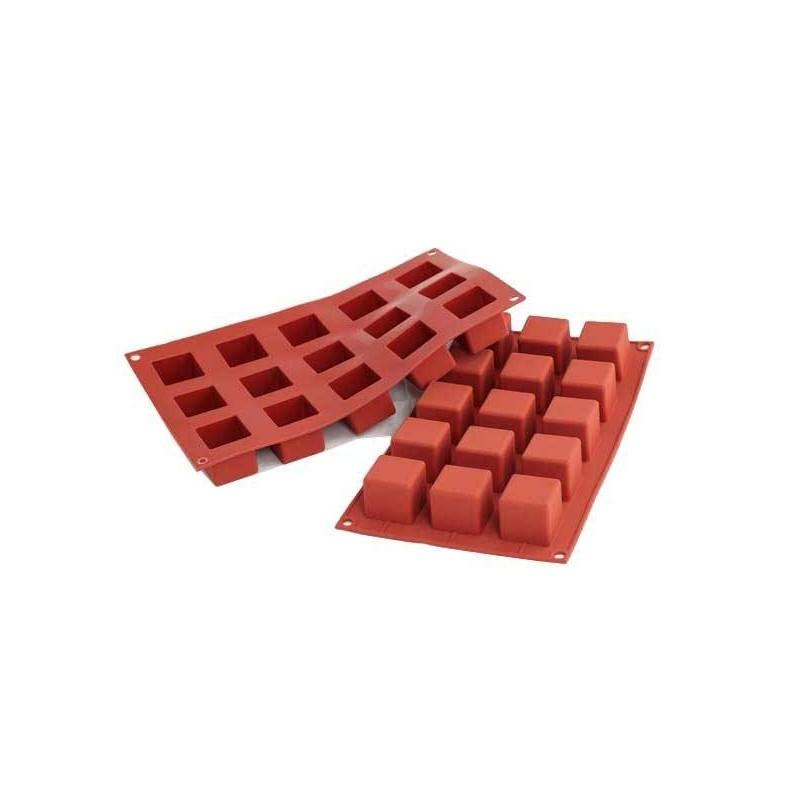 """Moule en silicone """"Cube"""", moule cube, moule petits cubes, gâteau forme cubes, moule silicone petits cubes"""