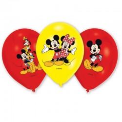 Ballons Mickey - 6pcs, ballon mickey, ballom jaune mickey, ballons rouge mickey
