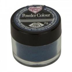Boîte poudre colorante bleu pétrole