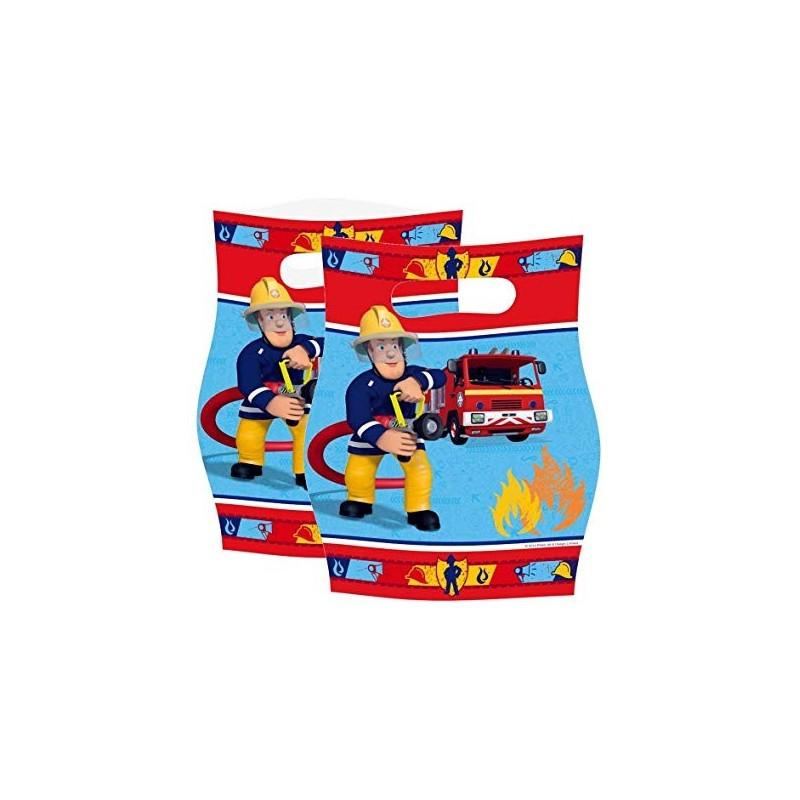 sachets - Sam le pompier, anniversaire sam le pompier, décorations sam le pompier