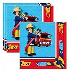 serviettes - Sam le pompier, anniversaire sam le pompier, décorations sam le pompier