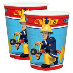 gobelet - Sam le pompier, anniversaire sam le pompier, décorations sam le pompier