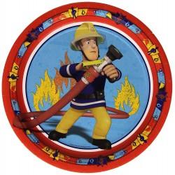 assiettes - Sam le pompier, anniversaire sam le pompier, décorations sam le pompier