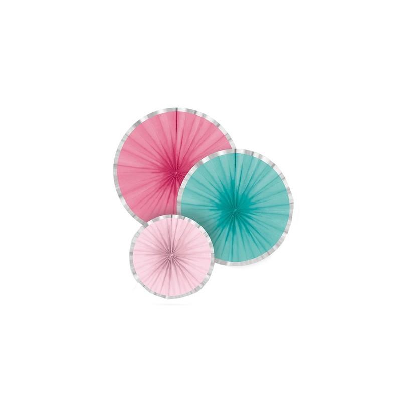 Cannelle en poudre, décoration en papier, décoration anniversaire rose,décoration anniversaire bleu, décorations bleu et rose
