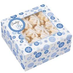 """Boîtes à Gâteaux """"Snowflake"""" Bleu Pk/3"""