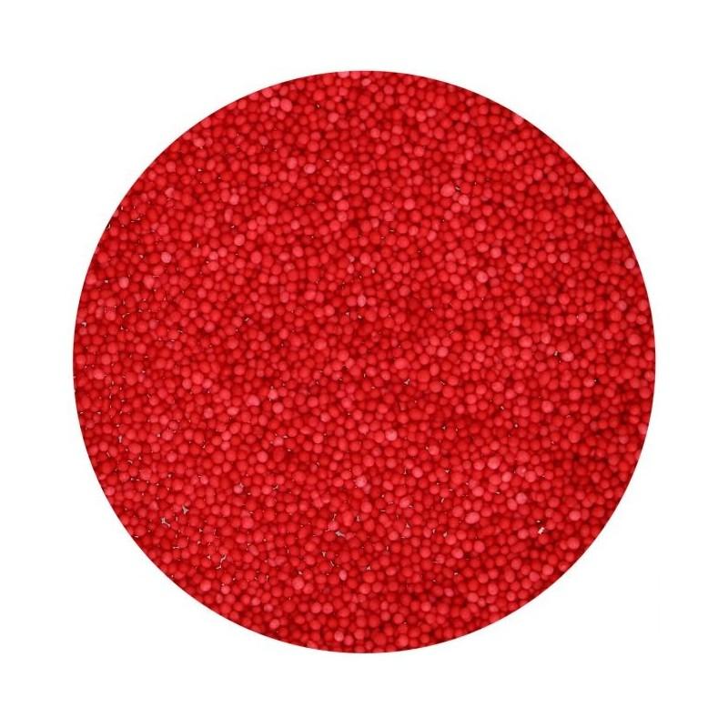 """Nonpareils """"Rouge"""" - 80g, décoration gâteau rouge, décoration bille rouge comestible, petite bille rouges comestible"""