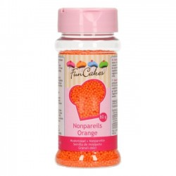 """Nonpareils """"orange"""" mini perles oranges 80g"""