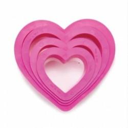 Lot emporte-pièces coeurs, emporte-pièce coeurs, emporte-pièce plastique coeur