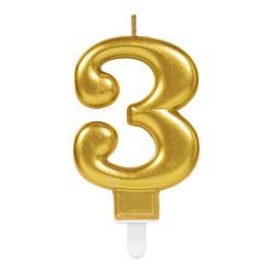 bougie dorée numéro 3
