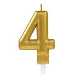 bougie dorée numéro 4