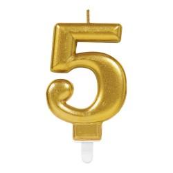 bougie dorée numéro 5
