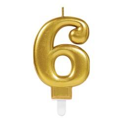 bougie dorée numéro 6