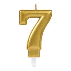 bougie dorée numéro 7