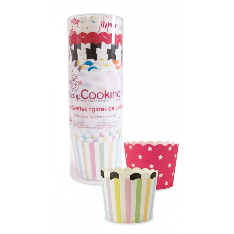 Caissettes de cuisson, set de caissettes multi couleurs, caissettes en papier pour cupcakes