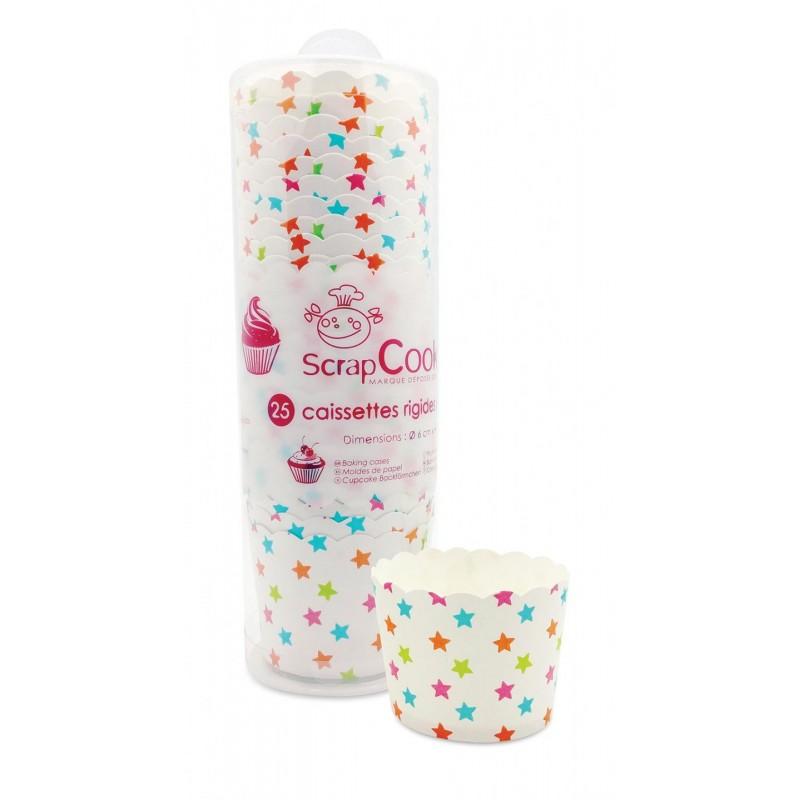 """Caissettes de cuisson, set de caissettes multi couleurs, caissettes en papier pour cupcakes,Caissettes de cuisson """"étoiles"""""""