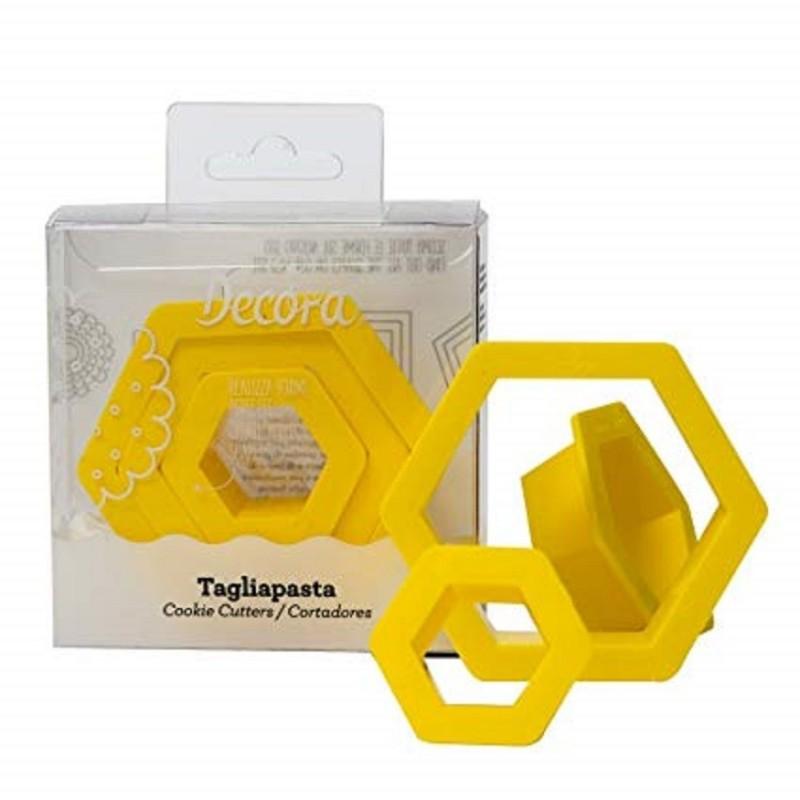 Emporte-pièce hexagone, emporte-pièce hexagone plastique, set emporte-pièce hexagone