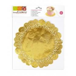 Napperons dorés, sous gâteau doré, napperons à gâteau or, dentelles or pour gâteau