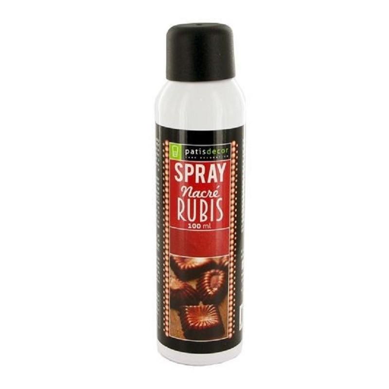 """Spray nacré """"Rubis"""", spray pâtisserie nacré , spray chocolat rubis, spray effet nacré, nacré rubis"""