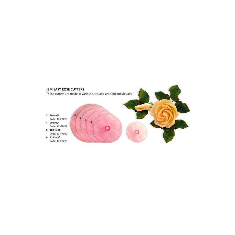 Découpoir Facile Rose - 80 mm