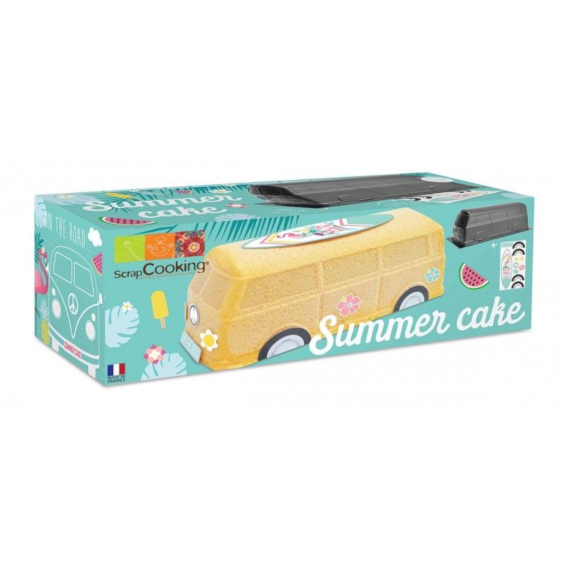 """Kit """"Summer Van"""", moule été, moule van, moule surfeur, moule et stickers surfeur, moule et stickers été, moule summer cake"""
