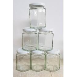6 Hex jam jars