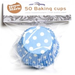Baking cups Polkadot Blue - pk/50