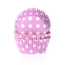 Baking cups Polkadot Pink - pk/50