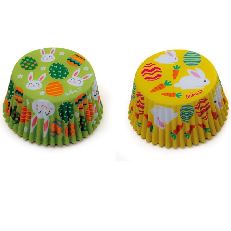 """Caissettes """"lapins"""", caissettes lapins cupcake, mini caissettes lapins, mini caissette cupcake lapins, caissettes Pâques"""