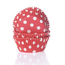 Baking cups Polkadot Red - pk/50