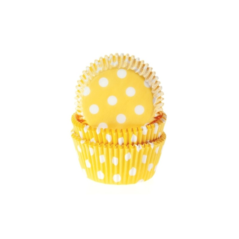 Baking cups Polkadot Yellow - pk/50