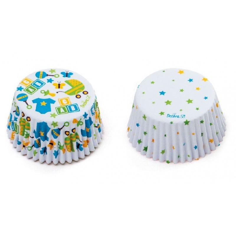 """Caissettes """"bébé"""", caissettes baby shower cupcake, mini caissettes bébé, mini caissette cupcake bébé"""