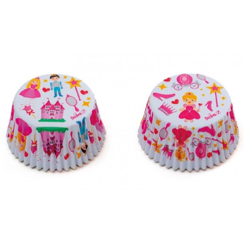 """Caissettes """"princesse"""", caissettes princesse cupcake, mini caissettes princesse, mini caissette cupcake princesse"""