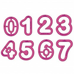 Kit découpoir numéros, emporte-pièce chiffre, emporte-pièce numéro, boîte emporte-pièce numéros
