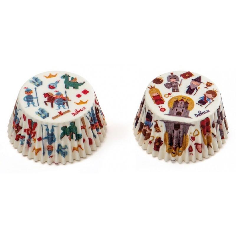 Caissette conte de fée, cupcake conte de fée, caissettes chevalier-roi-princesse, caissettes thème conte de fée, caissettes thèm