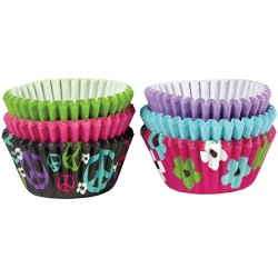 Mini Baking Cups Peace and Flower pk/150